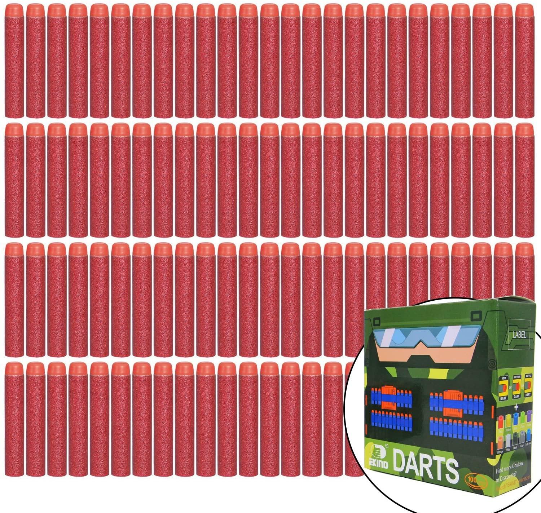 EKIND 100 Pcs 7.2cm Refill Bullet Foam Darts Compatible for Nerf N-Strike Elite Series Blasters Kid Toy Gun