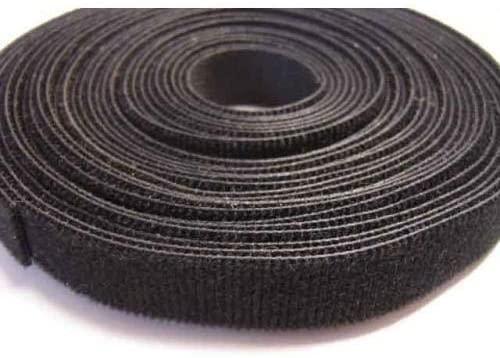 Kable Kontrol Hook and Loop Cable Wrap - 3/4'' Wide - Black - 25 Yards Long spool