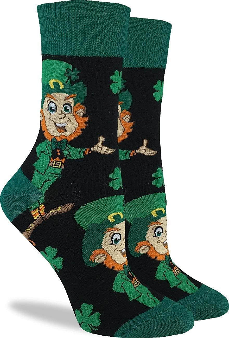Good Luck Sock Women's St. Patrick's Day Leprechaun Socks - Green, Shoe Size 5-9