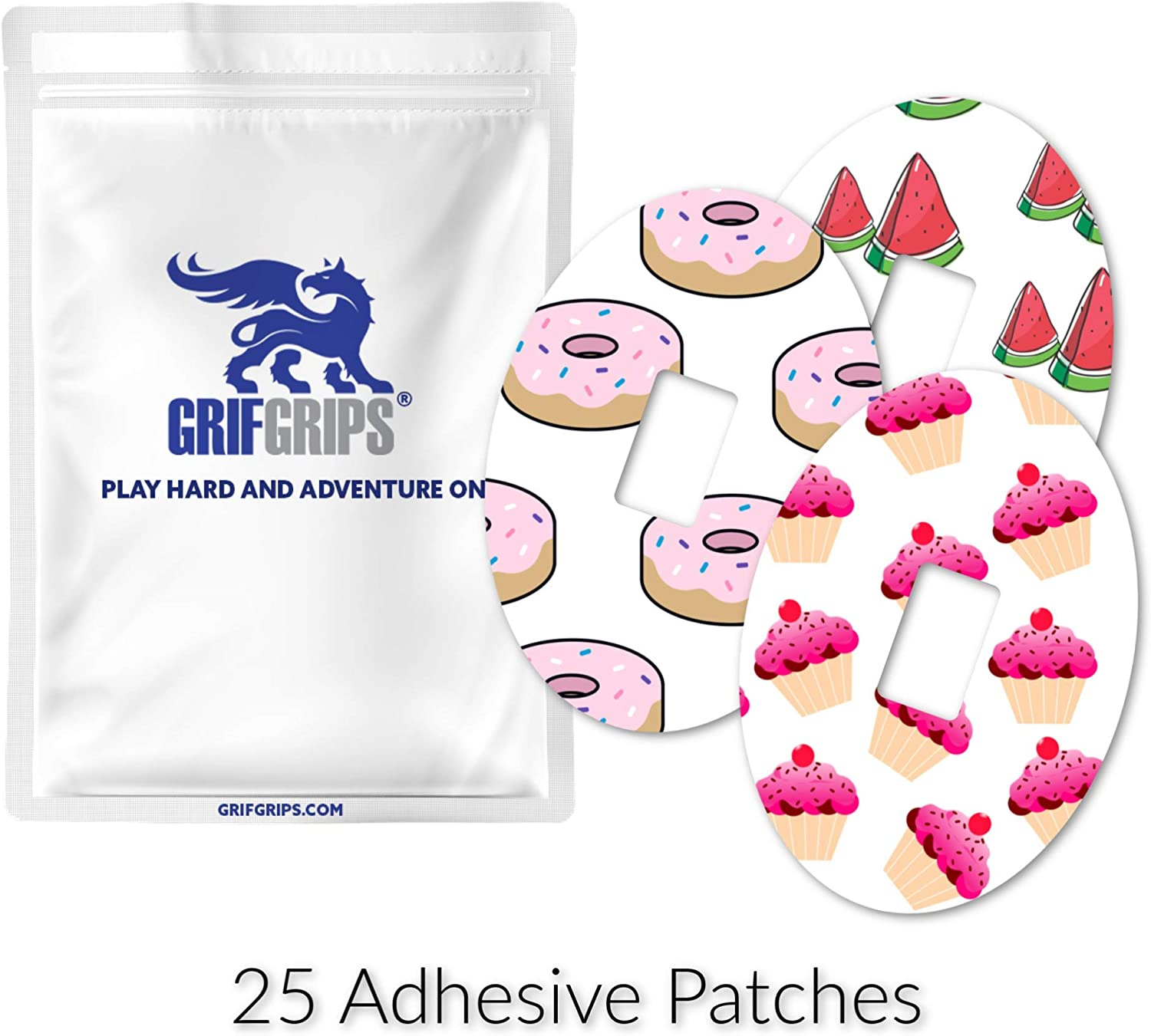 GrifGrips Extreme - Dexcom G4 and G5 Oval Cuts (Pack of 25)