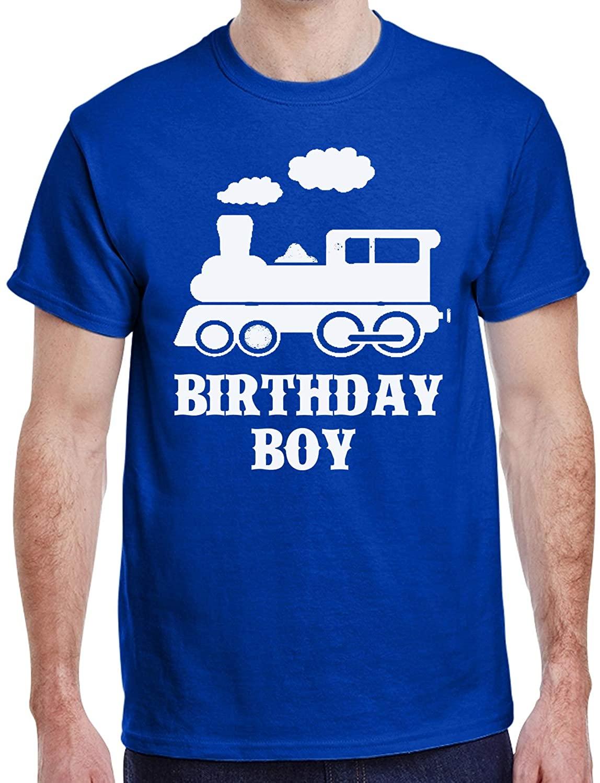 Custom Kingdom Mens Train Birthday Boy T-Shirt