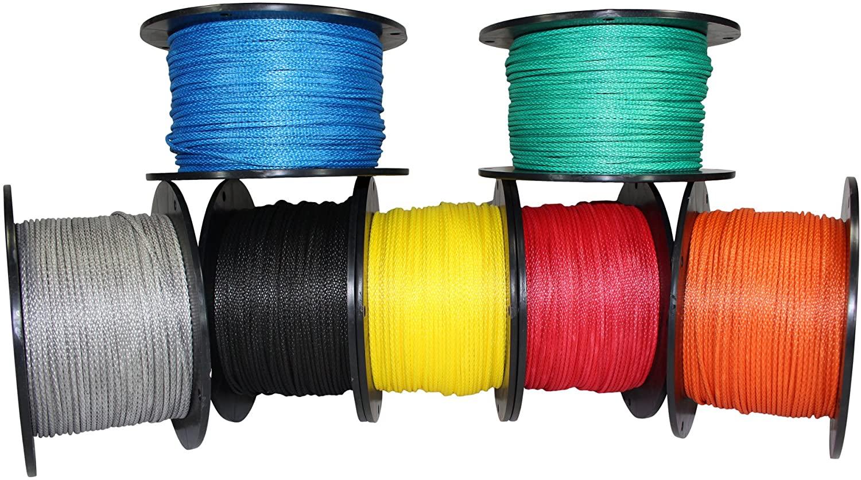 SGT KNOTS Dyneema Rope - Hollow Braid Rope 7/64 inch (2.5mm) - Lightweight 12 Strand Dyneema Cord - for Whoopie Slings, Hammocks, Arborists, Boating, Camping, DIY (25 ft - 600 ft - 7 Colors)