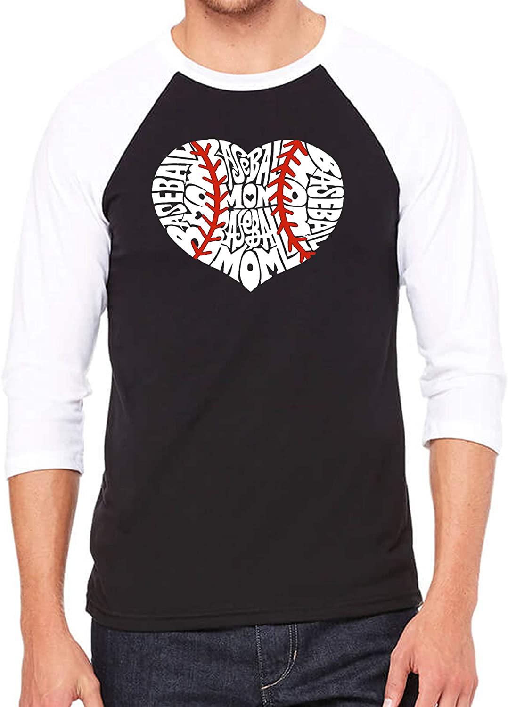 Men's Raglan Baseball Word Art T-Shirt - Baseball Mom - by LA Pop Art