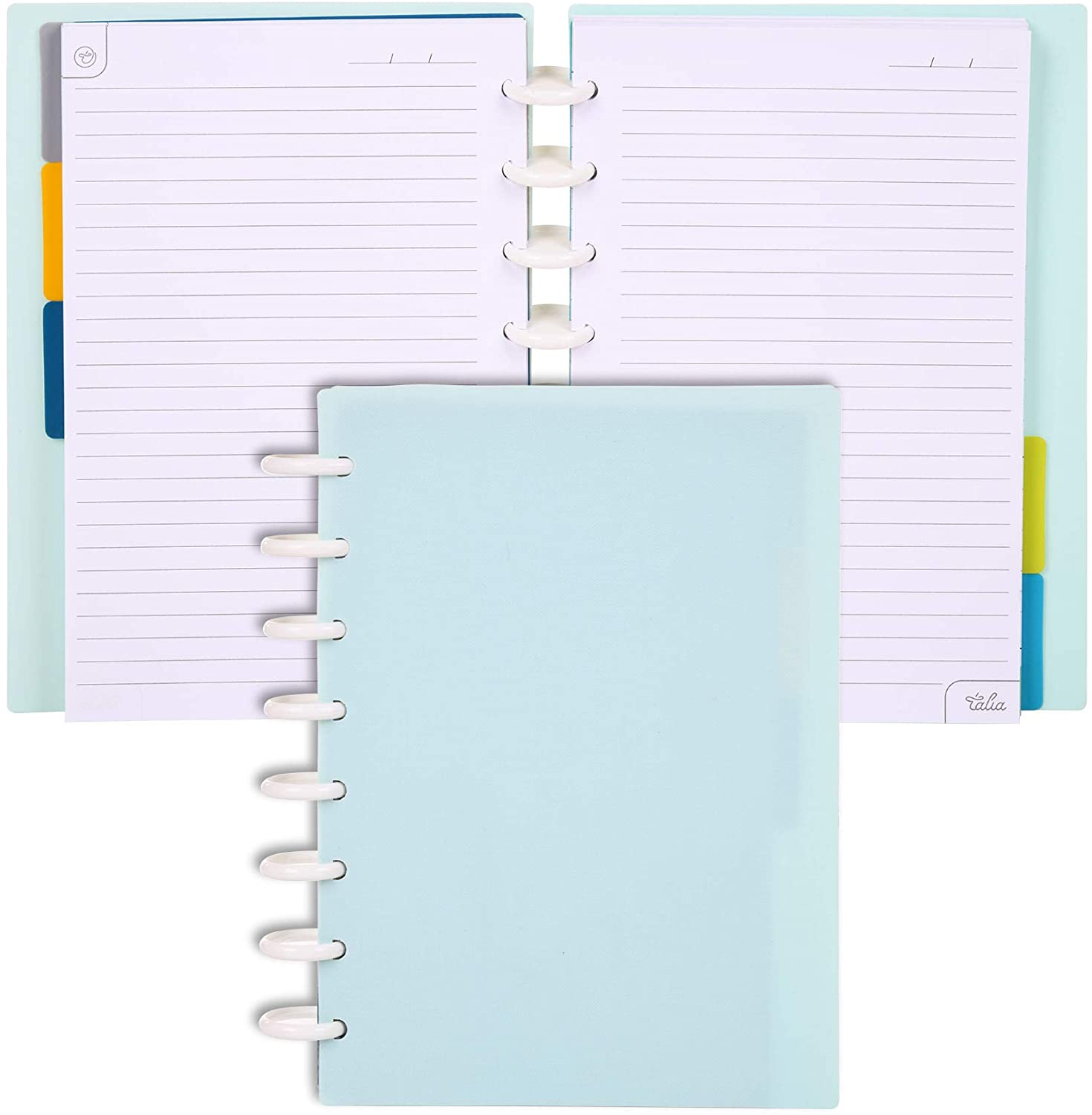 Talia Discbound Notebook, Summer Blue, Junior