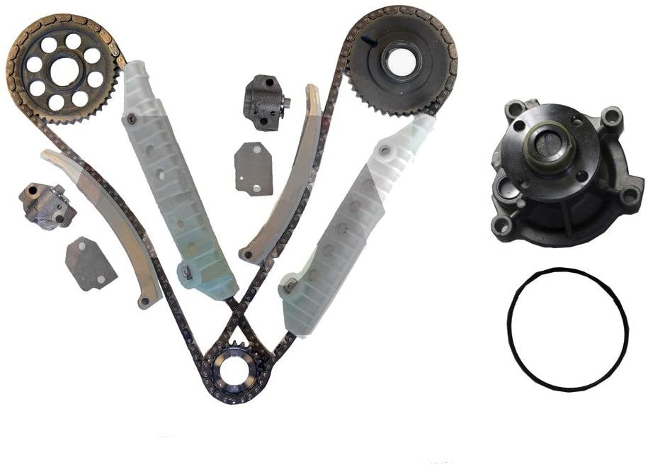 Diamond Power Timing Chain kit & Water Pump set works with Ford Expedition F-150 E-150 Econoline 4.6L 281Cu. In. V8 GAS SOHC 1997-2000