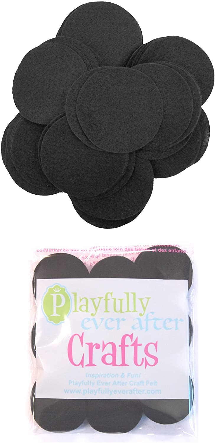 Playfully Ever After Black Craft Felt Circles (2 Inch - 44pc)