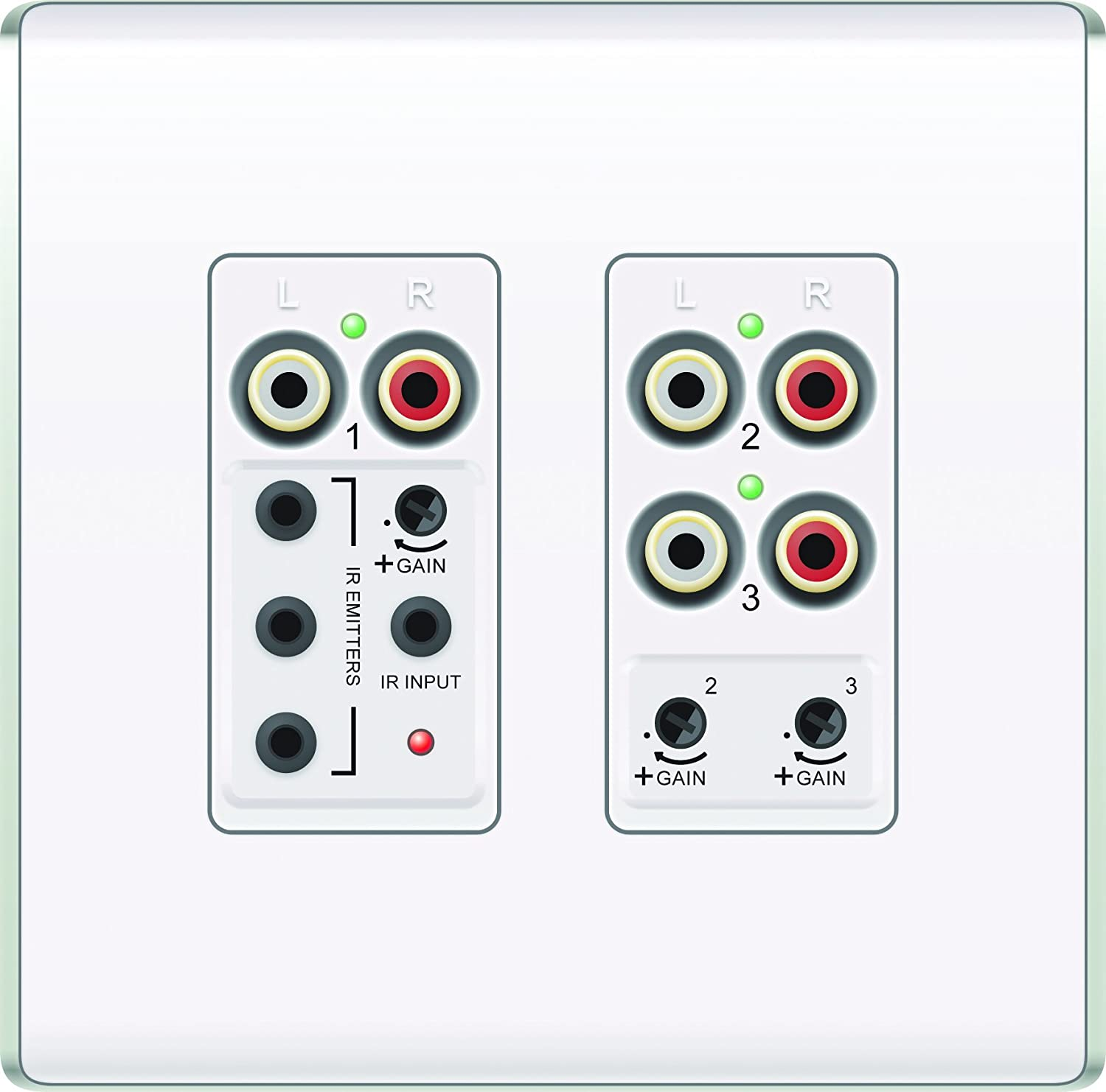Legrand - On-Q AU1011WH lyriQ Flush Mount Triple Source Input, White (Wall Plate not included)
