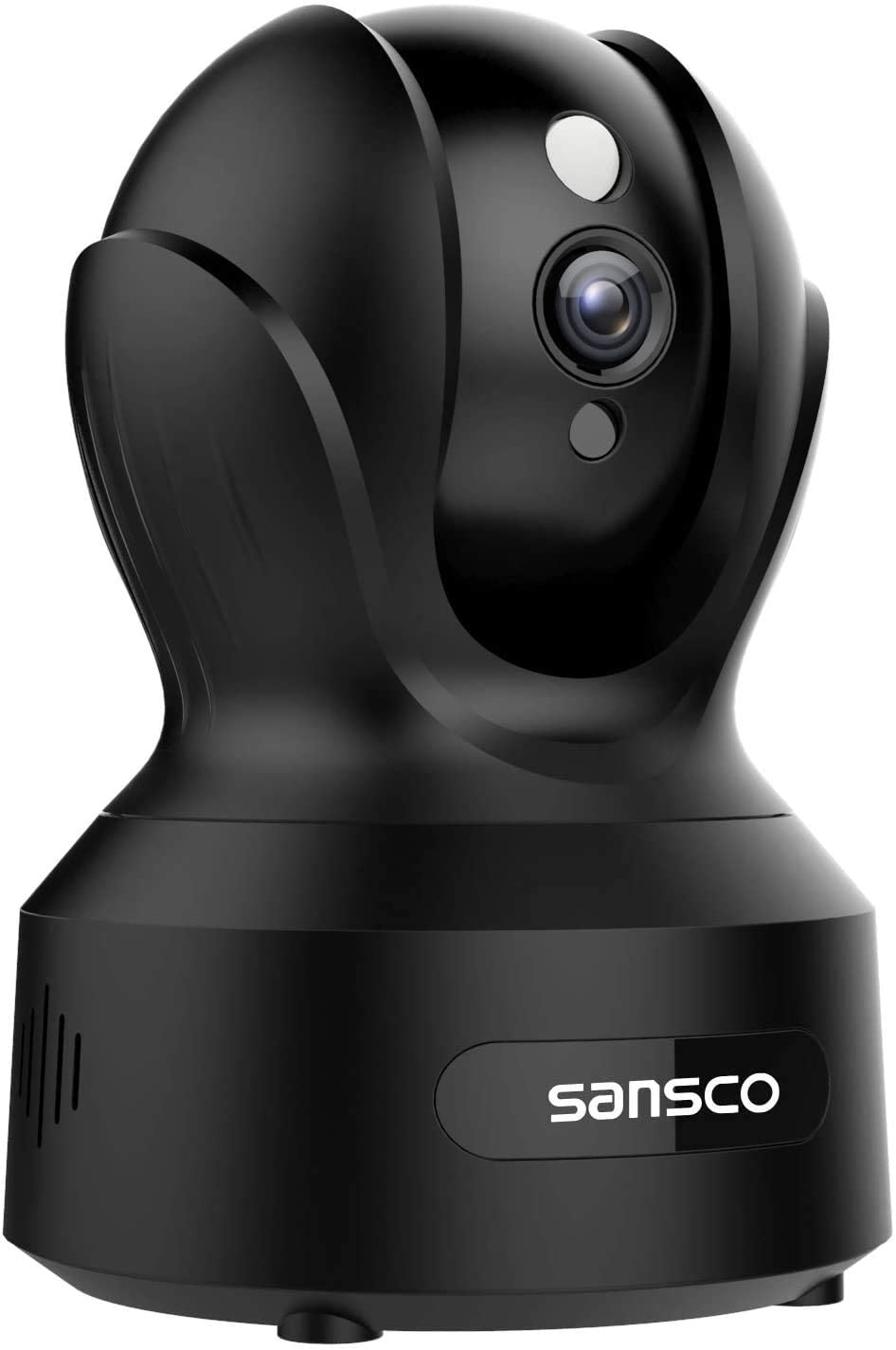 SANSCO Indoor Wireless WiFi Security Camera Full HD 2MP 1080p Home Monitor Surveillance Network IP Camera for Pet/Baby with IR Night Vision, Motion Detection Push Alerts and Two-Way Audio - Black