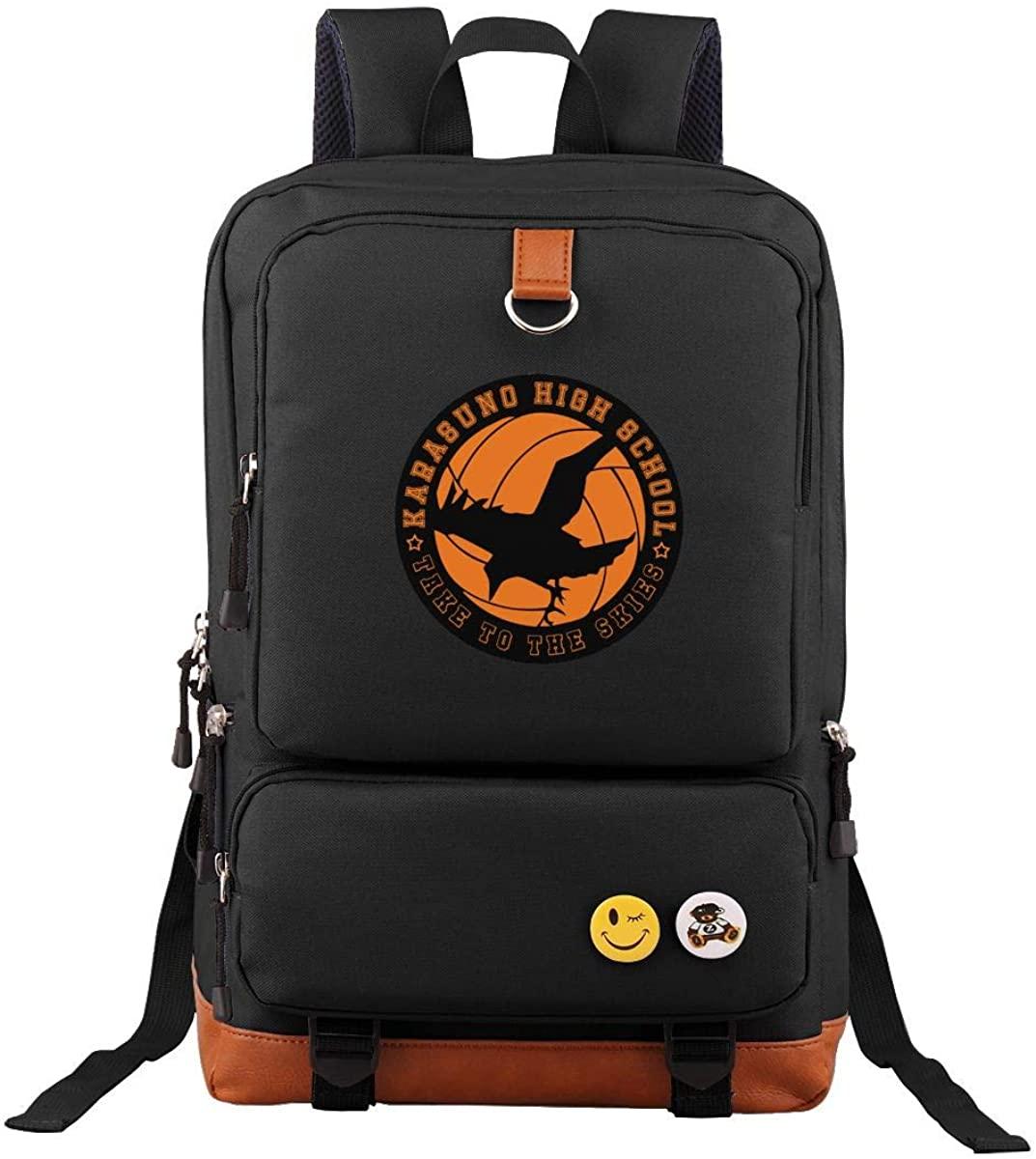 Haiky-Uu!! Men And Women Backpacks, Casual Backpacks Size 11l5w17h Inch