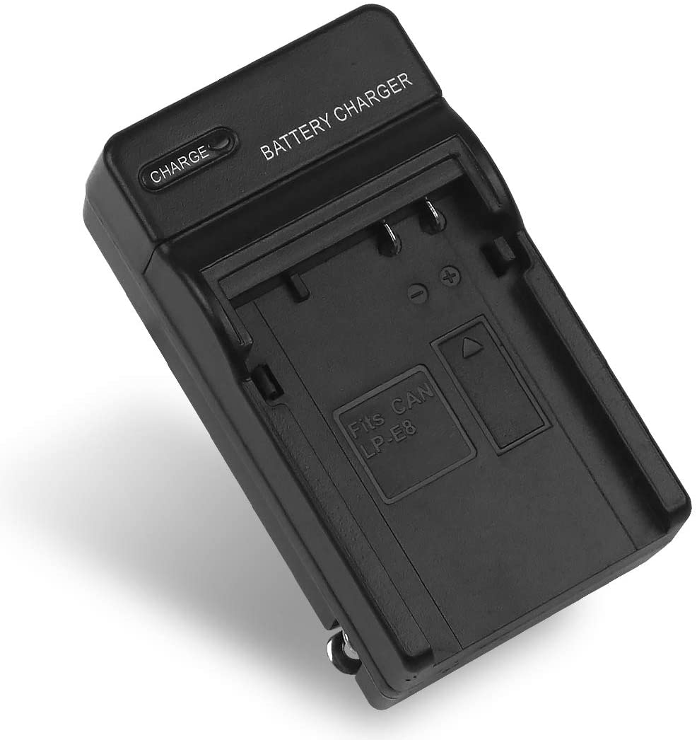 LP-E8 Battery Charger for Canon LC-E8, LC-E8C, LC-E8E, Canon EOS Rebel T2i, T3i, T4i, T5i, 550D, 600D, 650D, 700D, Kiss X4, X5, X6i, X7i Cameras & More (Not for T2 T3 T4 T5)