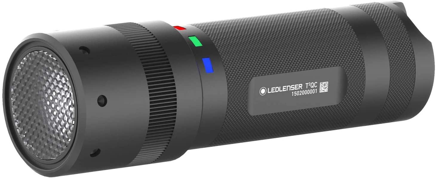 LEDLENSER - T2QC Multi Color LED Flashlight, 140 Lumens, Black