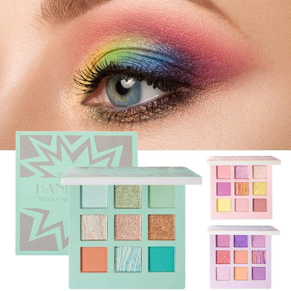 Dorrisi 9 Colors Matte Eyeshadow Palette Makeup Brushes Set Long-Lasting Waterproof Makeup Palettes Highly Pigmented Colorful Powder