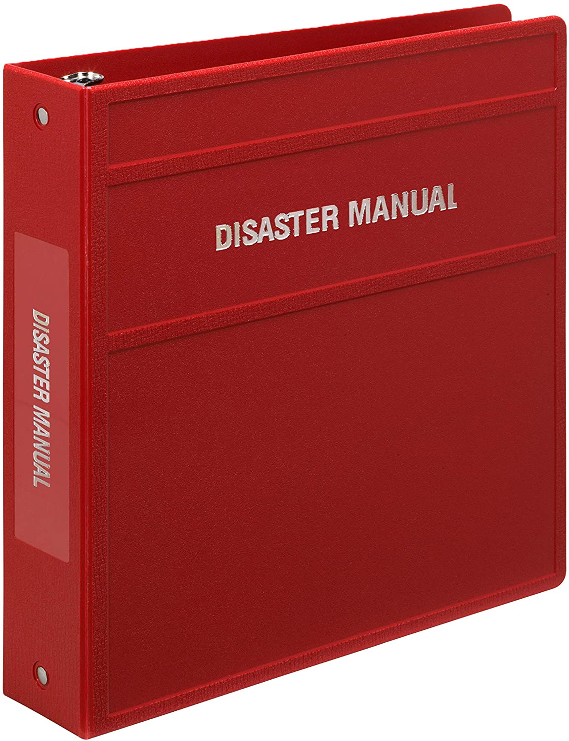 Carstens 2-Inch Heavy Duty 3-Ring Binder for Disaster Manuals – Side Opening, Brick Red