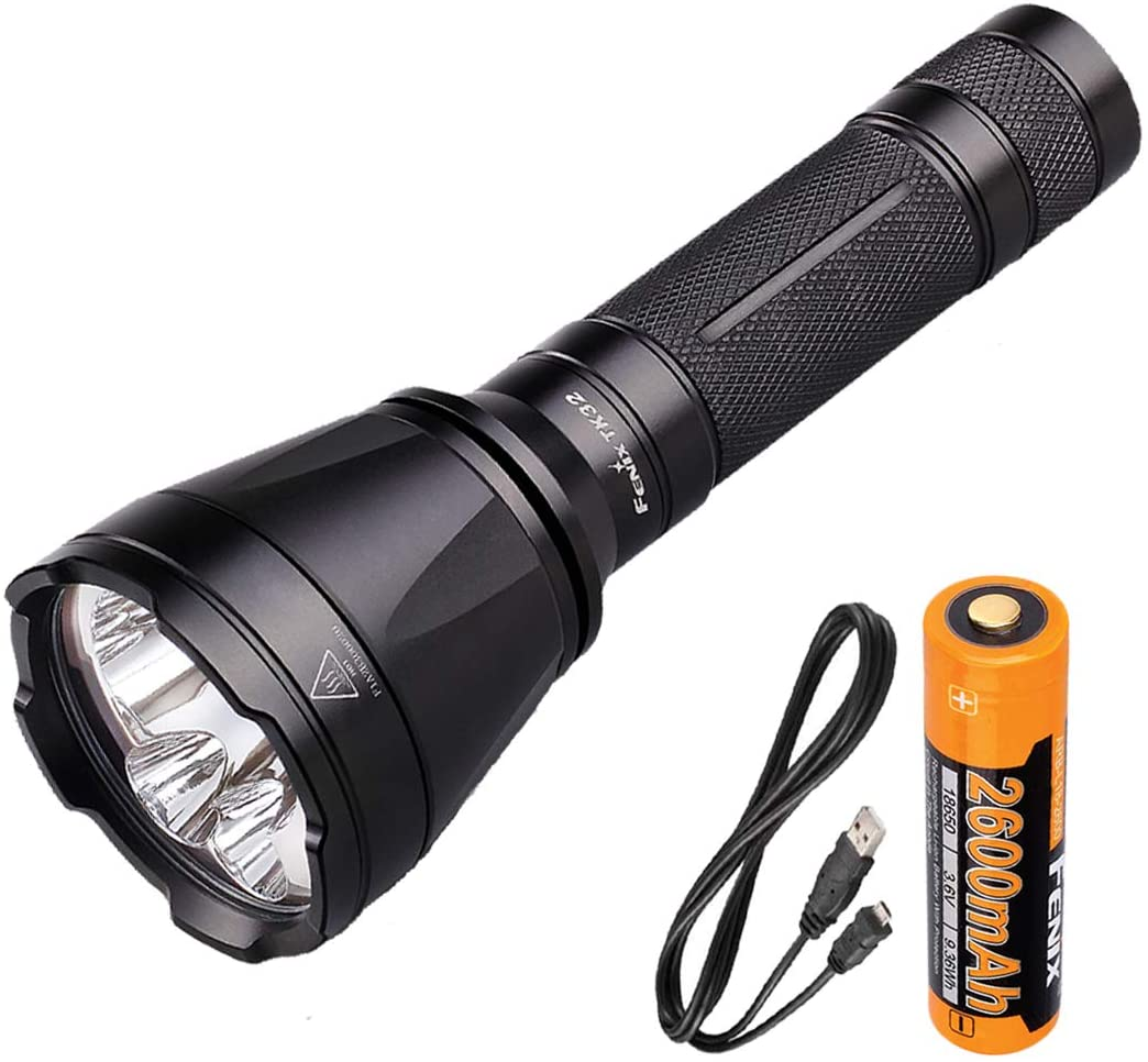 Fenix TK32 1000 Lumens Tri-Color LED Tactical Flashlight w/USB Rechargeable Battery and LumenTac USB Charging Cable