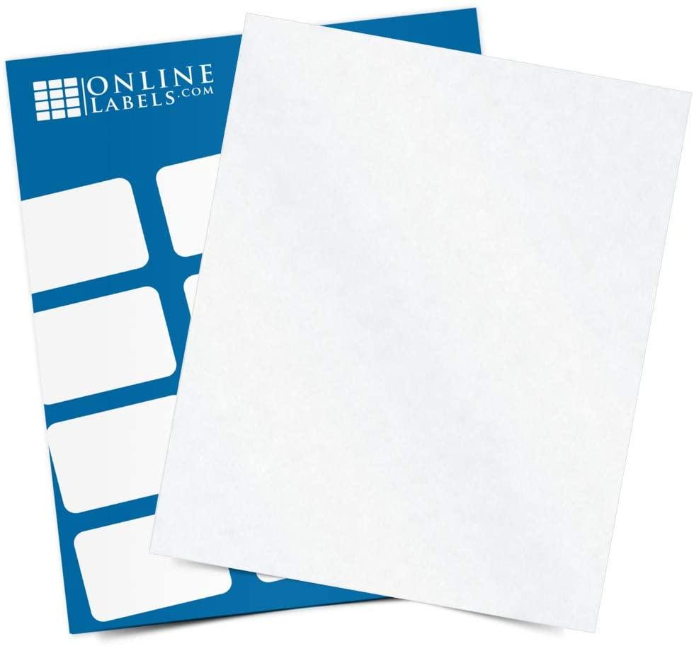 Clear Matte Frosted Waterproof Sticker Paper, 8.5 x 11 Full Sheet Label, 250 Sheets, Laser Printer, Online Labels