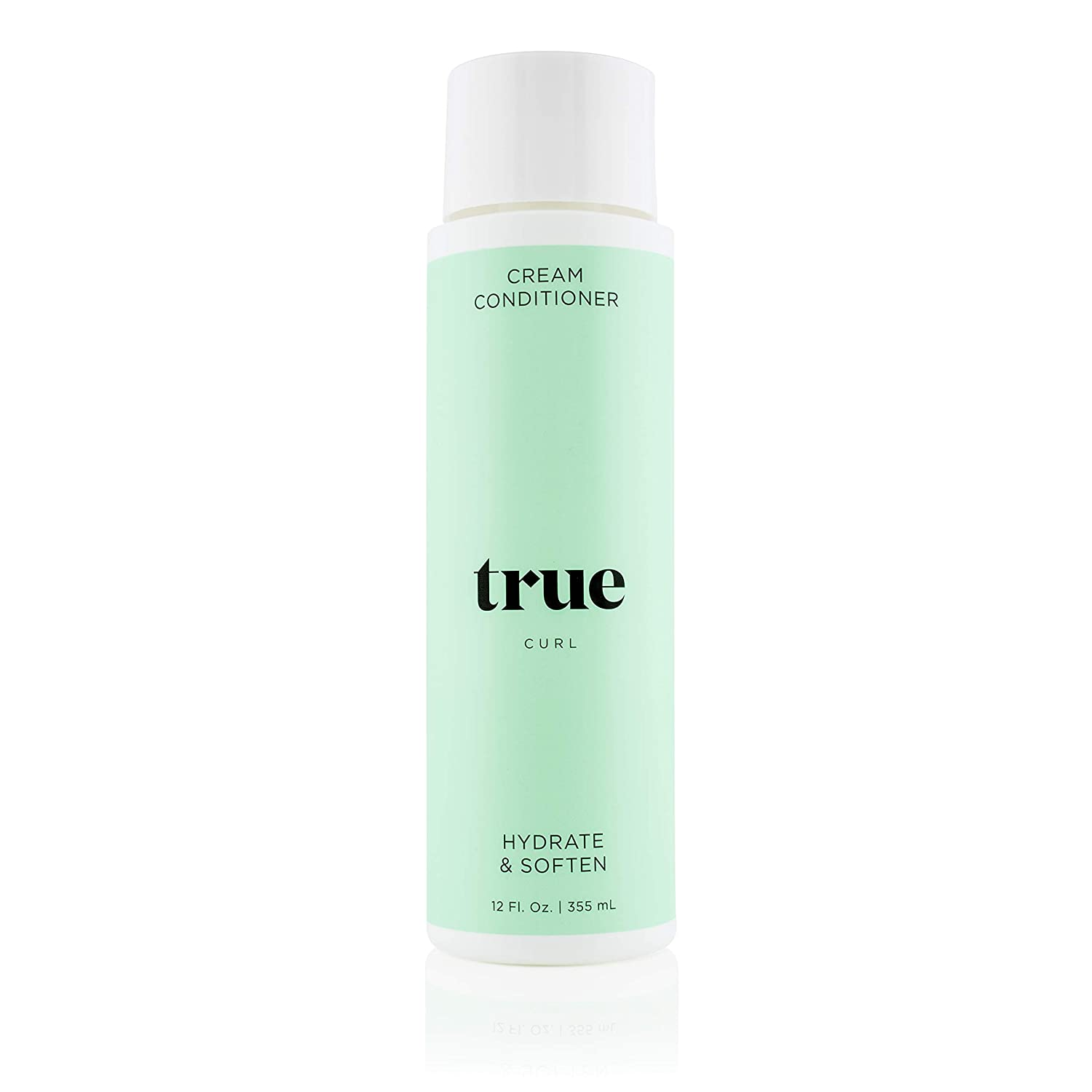 True Curl Cream Conditioner. Vegan, Cruelty Free, Hydrate and Soften for Frizz-Free Wavy, Curly Hair. Silicone, Sulfate and Paraben-Free, 12 Fl Oz.