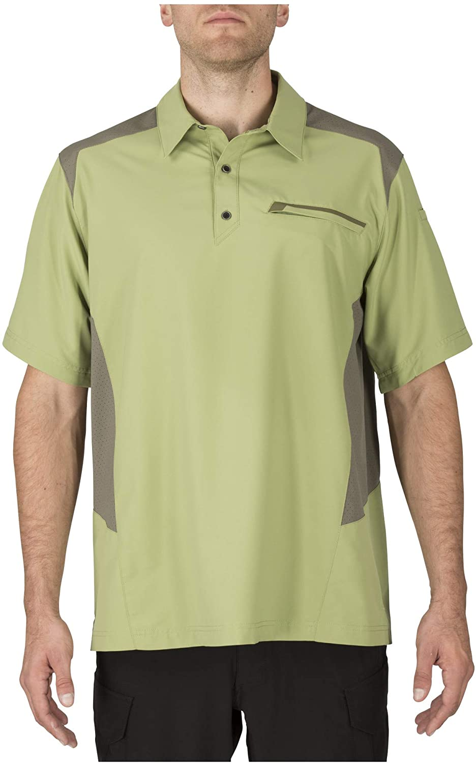 5.11 Tactical Men's Freedom Flex Short Sleeve Polo Shirt, Mechanical Stretch Fabric, Style 71356