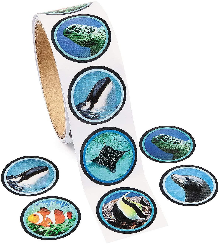 Fun Express Ocean Life Stickers - 100 ct
