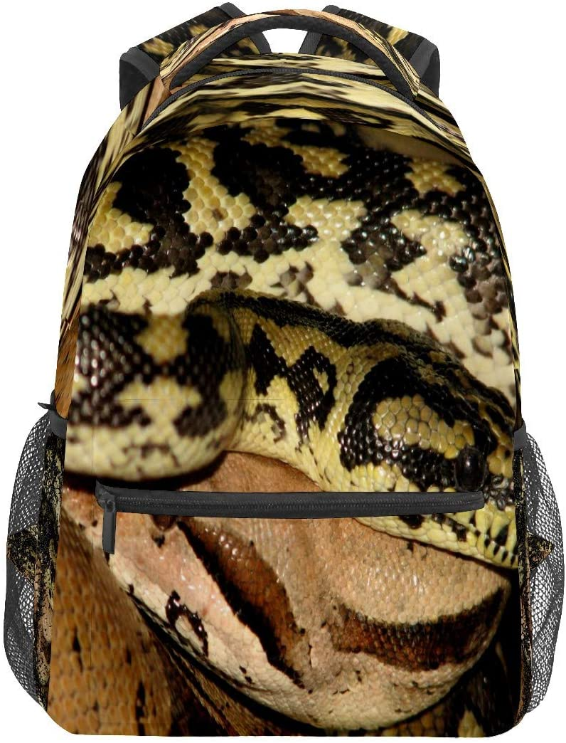 Spotted Snake Business Laptop Backpack Travel Hiking Camping Daypack College Bookbag Large Diaper Bag Doctor Bag School Backpack Water Resistant Anti-Theft for Women&Men