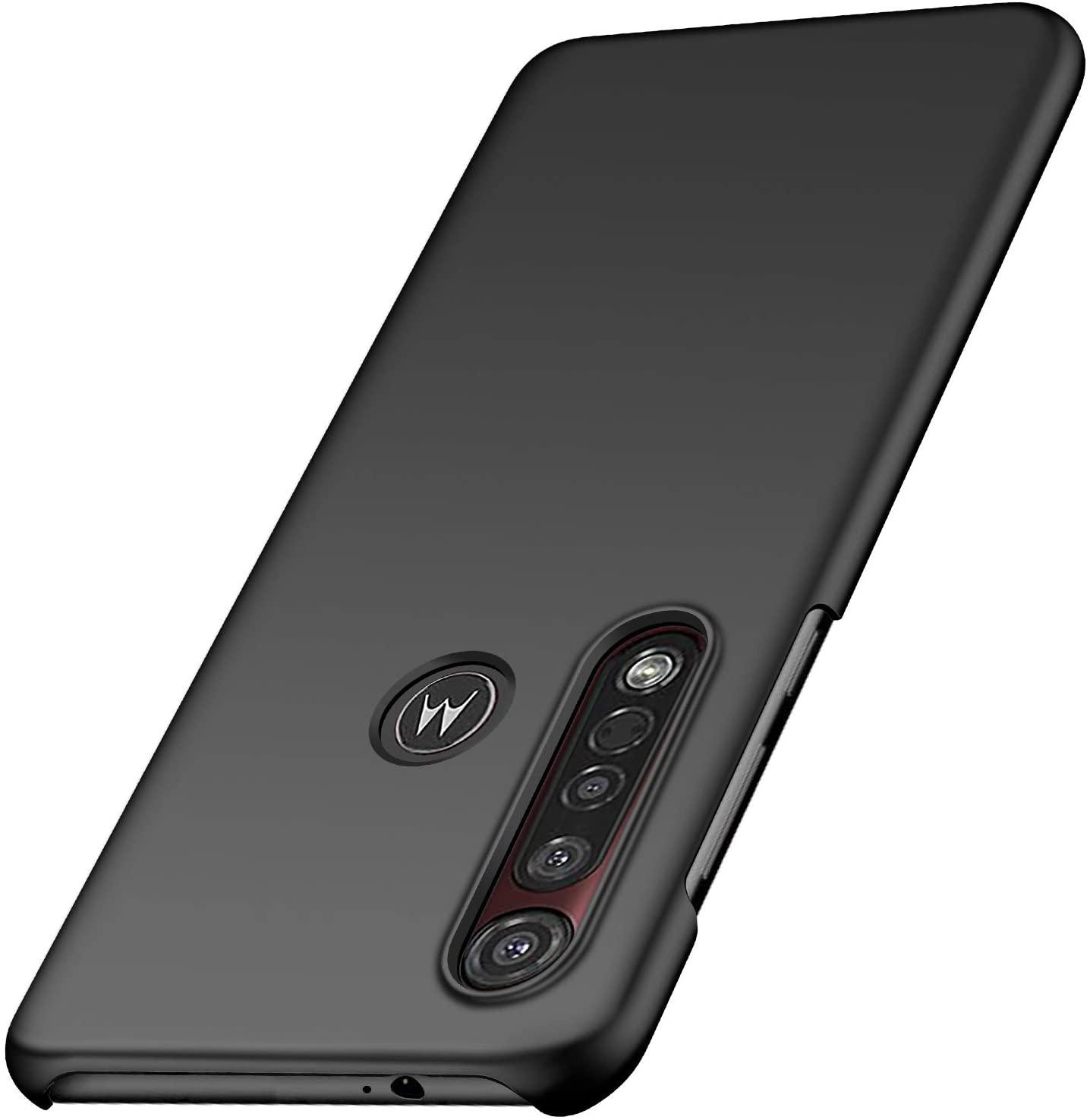 Yipmai Compatible with Motorola Moto G8 Plus Case, 0.03 Inch Ultra Thin Ultra Slim Hard PC Plastic Protective Case for Motorola Moto G8 Plus (Smooth Black)