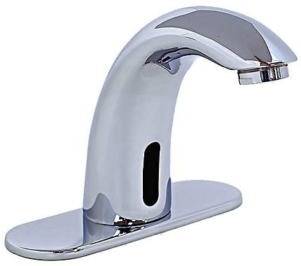 Cascada Automatic Hands Free Modern Contemporary Design Sensor Faucet (Hot & Cold), Chrome … (HDD413)