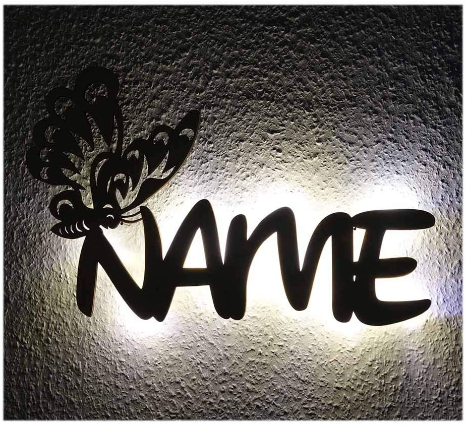 Butterfly Themed Decorations Gifts for Mom, Girls & Women I Unique Decor Night Light Personalized with Your Name