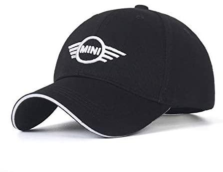 Westion Car Logo Embroidered Black Color Adjustable Baseball Caps for Men and Women Hat Travel Cap Car Racing Motor Hat (fit Mini)