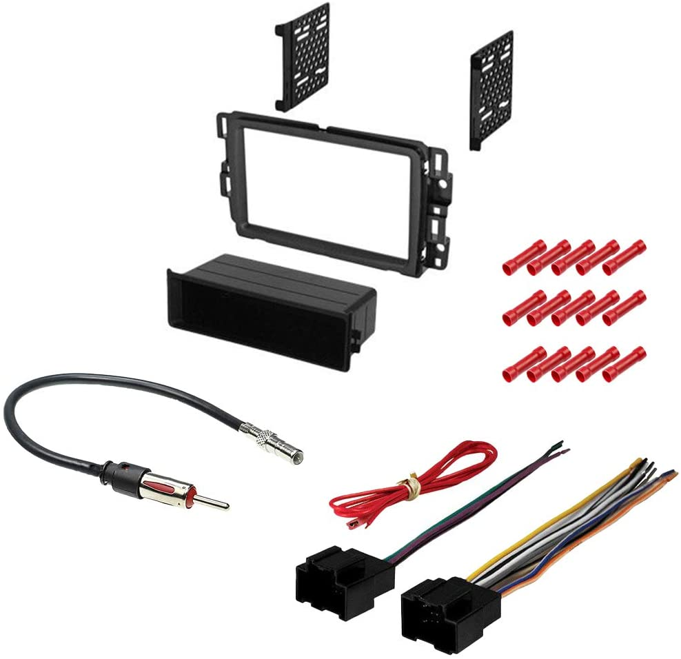 CACHÉ KIT518 Bundle with Car Stereo Installation Kit for 2013 – 2016 Chevrolet Traverse – in Dash Mounting Kit, Antenna for Single Double Din Radio Receiver (4 Item)