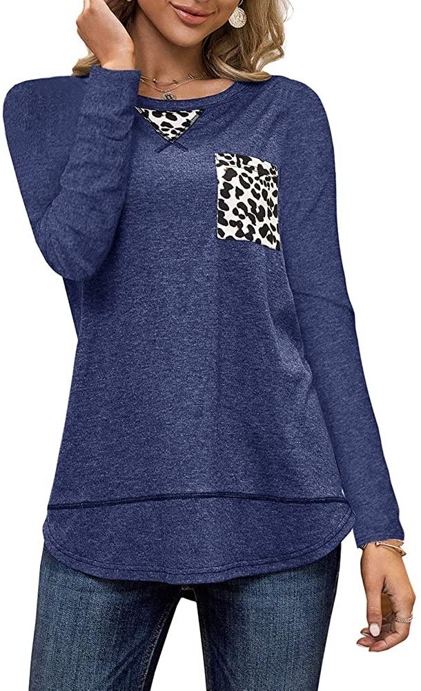 Womens Leopard Print Tank Tops Patchwork Round Neck Summer Plain Casual Sleeveless Tunic Shirts