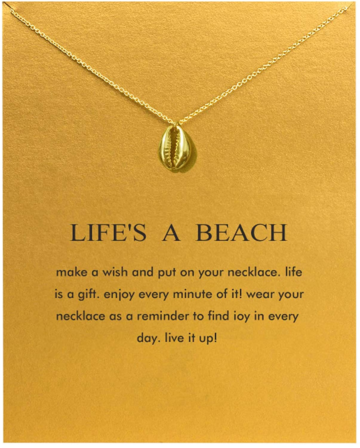 Hundred River Friendship Anchor Compass Necklace Good Luck Elephant Pendant Chain Necklace with Message Card
