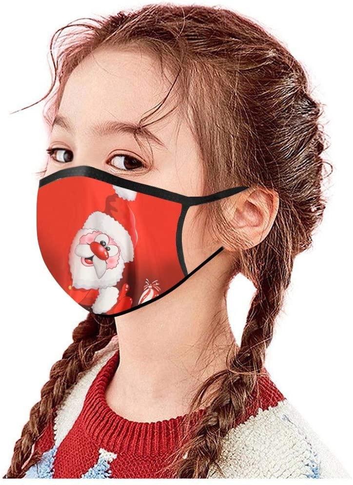 EarLoop 𝓶𝓪𝓼𝓴 Xmas Face_ 𝙼𝚊𝚜𝚔 for Child-US Stock Children's Kids Christmas Print 𝓶á𝓼𝓴 Face C0VER Washable 𝓶á𝓼𝓴