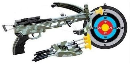 Kings Sport Military Toy Crossbow Set w/ Target, Soft Power Safe Children Game Set