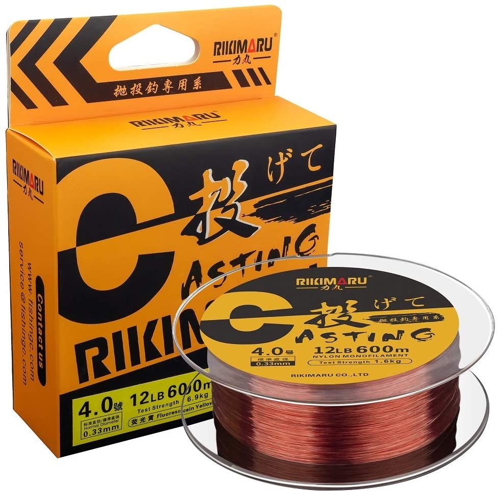 RIKIMARU Premium Monofilament Fishing Line-Strong and Abrasion Resistant Mono Line-Superior Nylon Material Fishing Line