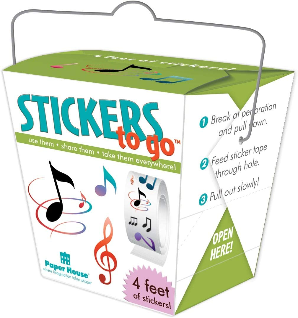 Paper House Productions Paper House Stickers To Go 4ft Roll-Music