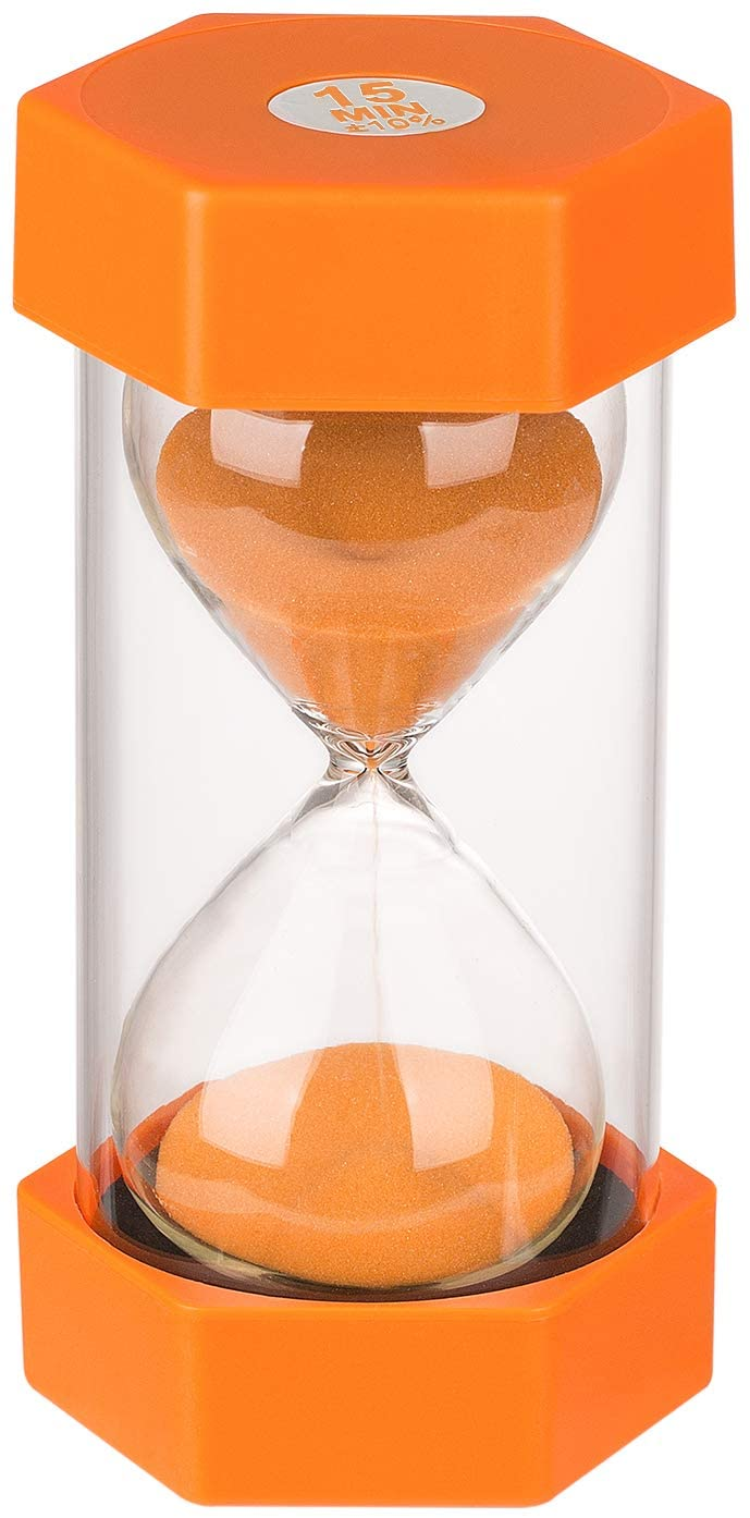 KSMA Sand Timer 15 Minutes Hourglass Timer,Colorful Sandglass Timer for Kids,Office,Classroom,Kitchen,Games,Toothbrush
