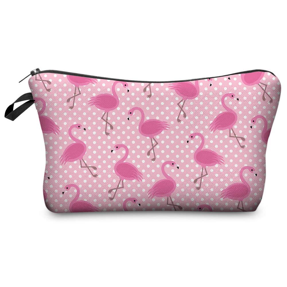 Jom Tokoy Makeup Bag for Purse Pink Flamingo Cosmetic Bag Gifts (Flamingo)