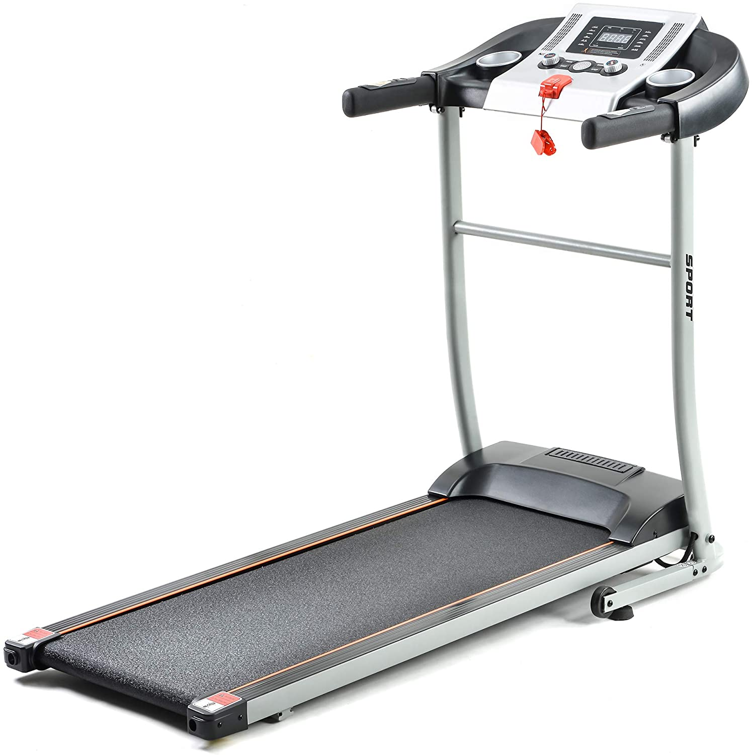HoozGee Home Treadmill Folding Incline Treadmills for Running and Walking Exercise with LED Display of Tracking Heart Rate Calories