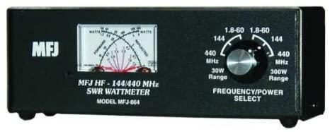 MFJ-864 SWR Meter, 1.8-60/144/440MHz, 30/300W