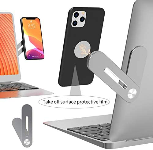 lorelo Cellphone Mount, Side Mount Clip for Laptop Fixed Clip on Flat and Slim Monitor or Laptop Monitor Cellphone Stand for Smartphone