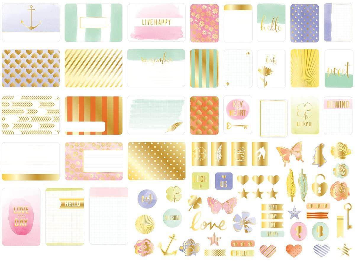 Project Life Value Kit - Trinkets W/Gold Foil Treatments