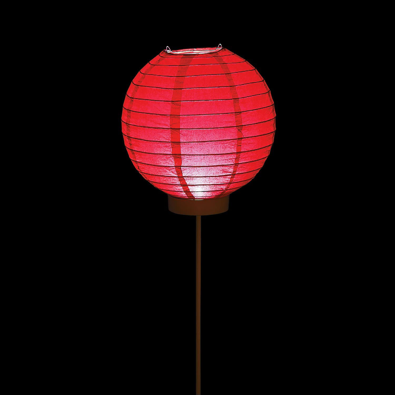 Fun Express - Red Light Up Paper Lantern Balloons - Party Decor - Hanging Decor - Lanterns - 3 Pieces