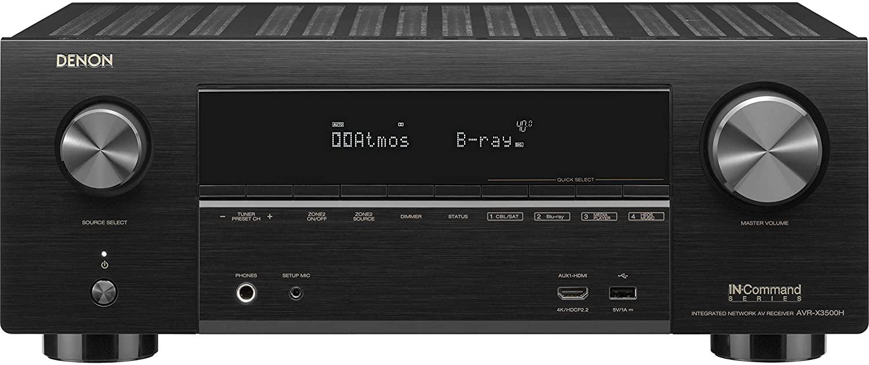 Denon AVR-X3500H 7.2-Channel 4K Ultra HD AV Receiver with HEOS, Black
