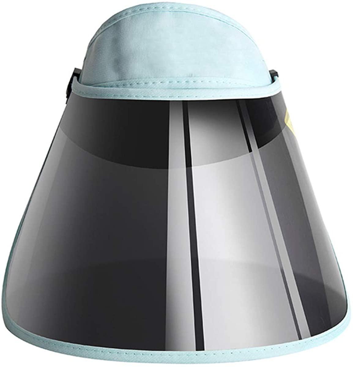 Portable Sun Visor Hat Adjustable UV Protection Hat Folding Headband Anti-UV Cap with Wide Brim for Camping Travel Golf