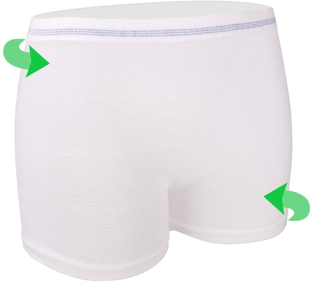 Mesh Underwear Postpartum 4 Count Disposable Postpartum Underwear Hospital Mesh Panties for Post C-Section, Maternity Briefs - Washable   Stretchy,High Waist Mesh Postpartum Underwear Women (XL)