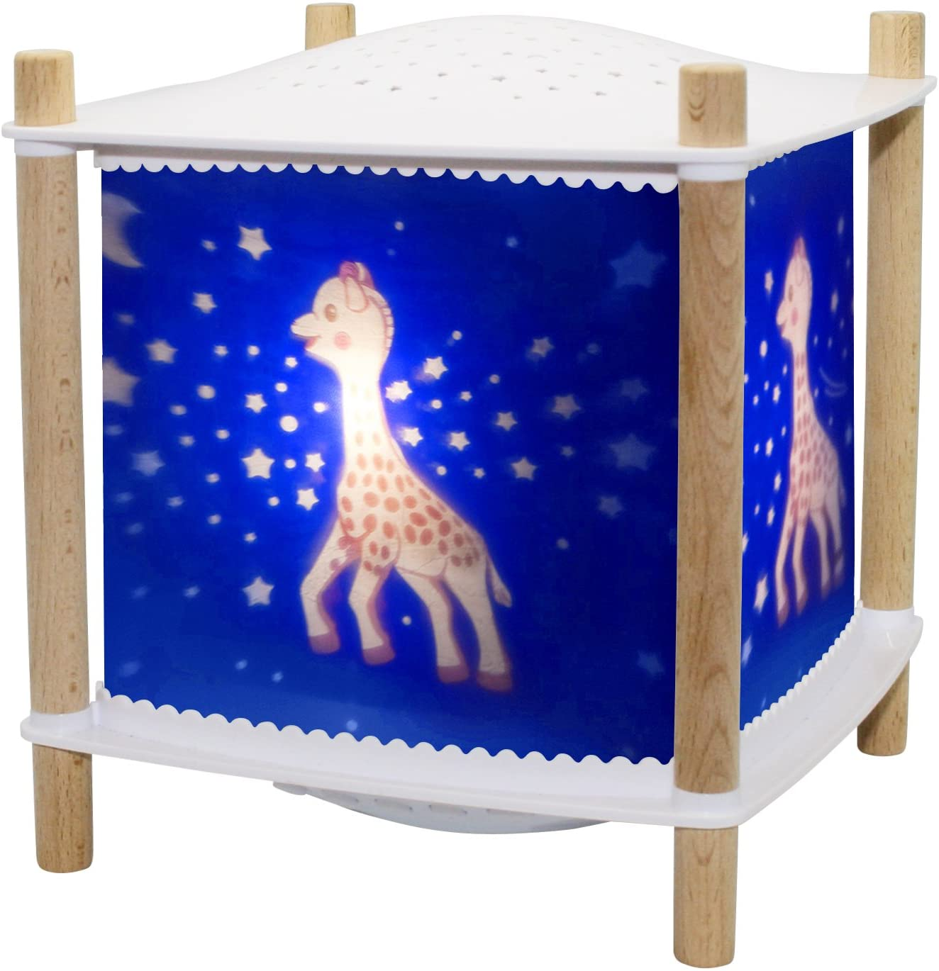 TROUSSELIER - Sophie The Giraffe - Night Light - Lantern Revolution 2.0 - Cry Detector & Musical & Wireless & USB Rechargeable