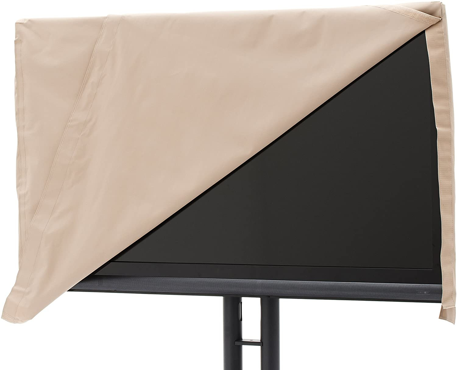 Covermates - Outdoor TV Cover - Fits 36 to 41 Inch TVs - Ultima - 300 Denier Fade Resistant Polyester - Full Coverage - Front Flip Top for Quick Viewing - 7 Year Warranty - Water Resistant - Tan