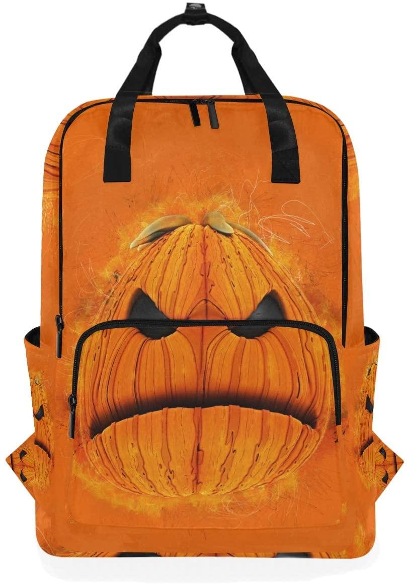 Skull Pumpkin Ghost Backpack Bookbag for School Boys Girls Laptop Bag Travel Shoulder Bags Women Men