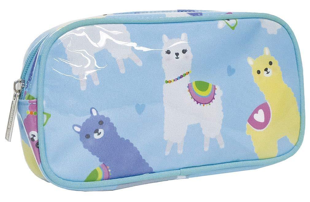 iscream Glama Llama 8.5 x 4.5 Bold Print Zippered Cosmetic Bag