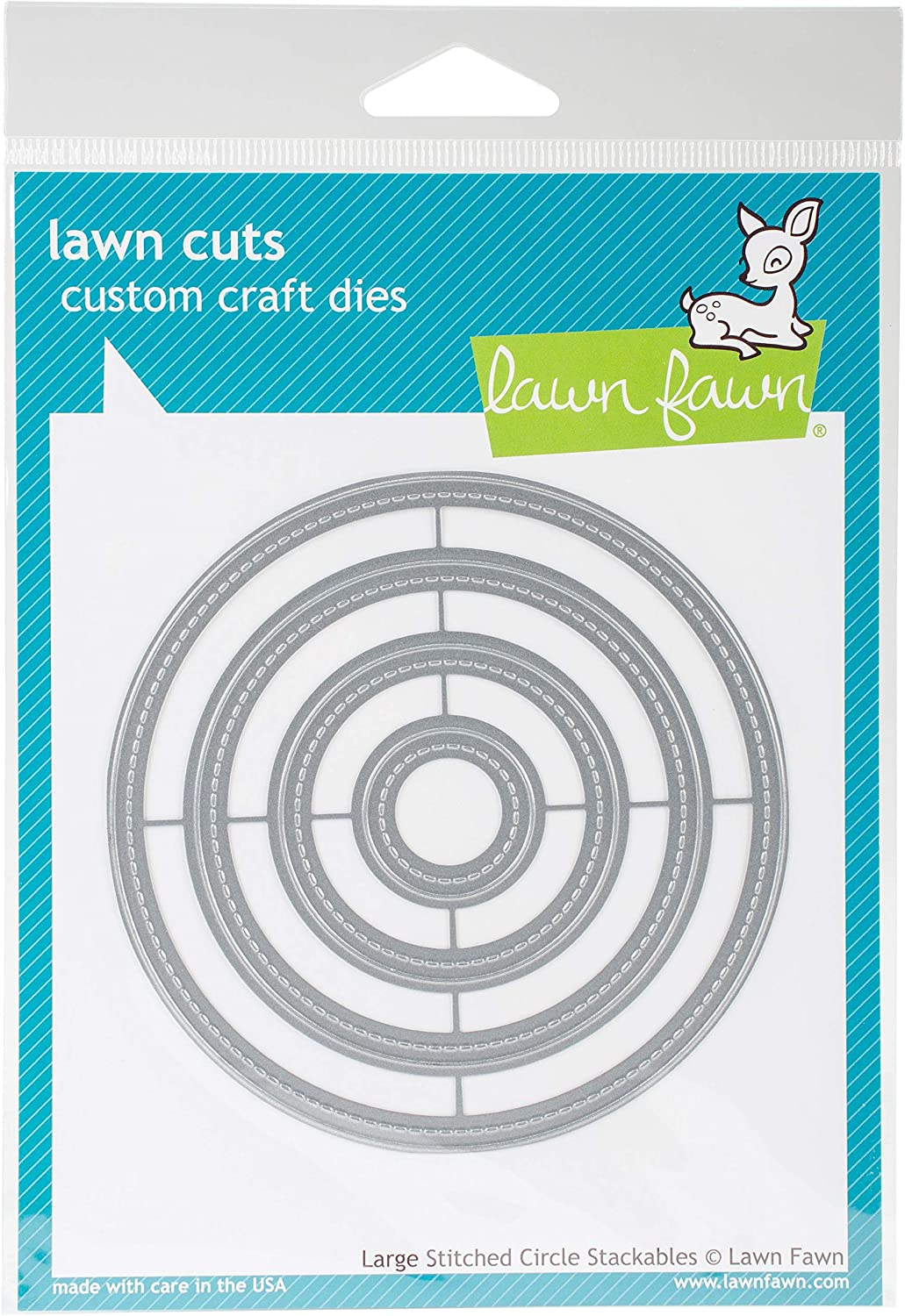 Lawn Fawn Large Stitched Circle Stackables Custom Craft Dies LF795