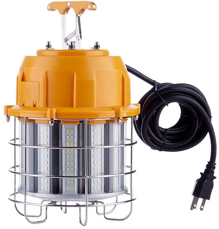 LED Temporary High Bay Light, LGL Lighting 60W LED Temporary Work Light 5000K Daylight 7,200 Lumens 250W HID/HPS/MH Replacement, 6000V Surge Protection